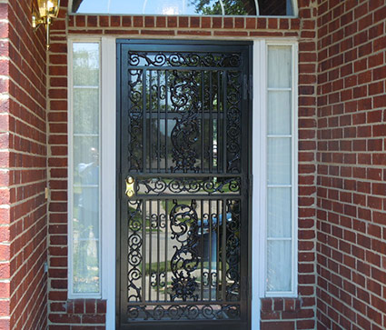 Custom security doors burglar bars in dallas window for Mastercraft storm doors